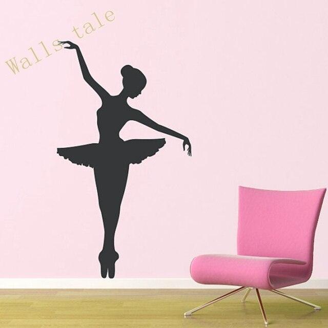Buy ballerina wall decal dancer dancing for Ballerina wall mural
