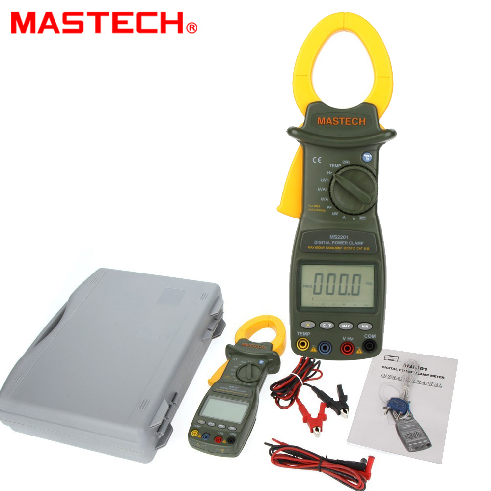 все цены на MASTECH MS2201 Digital Power Clamp Meter ACTIVE/APPARENT/REACTIVE POWER POWER FACTOR and ACTIVE ENERGY Tester онлайн