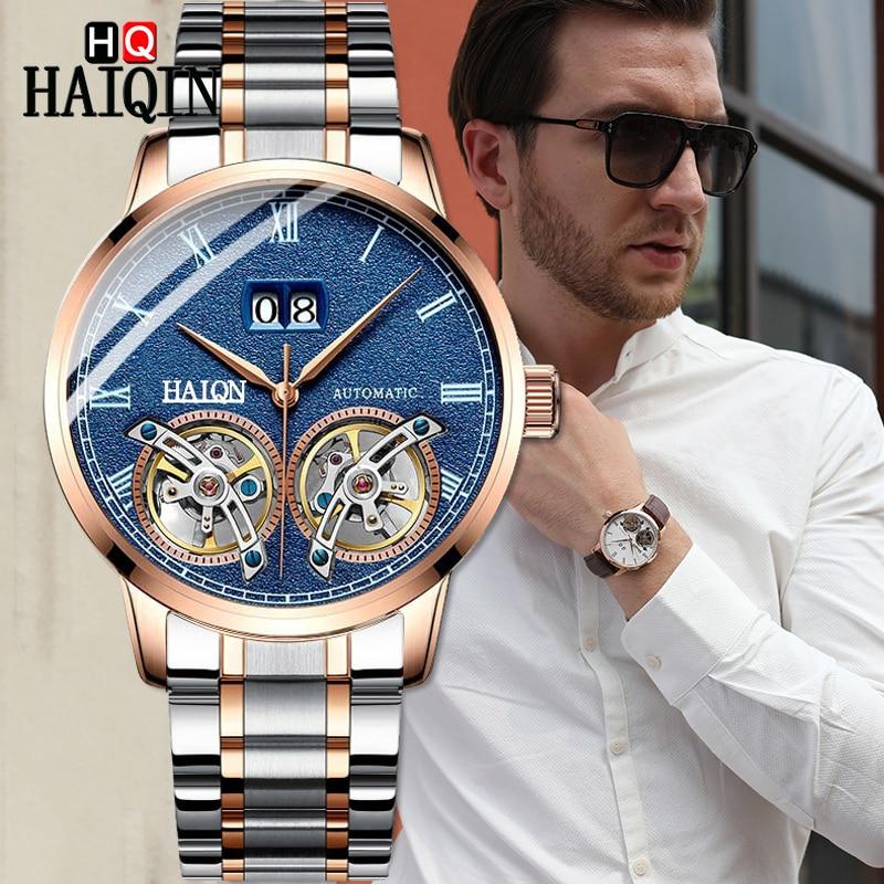 Mens Watches Watch Men 2019 Luxury Waterproof Fashion Sports / Automatic Military Mechanical men HAIQIN