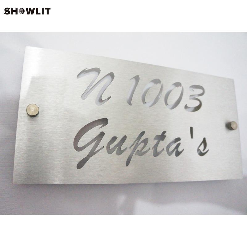 Aluminum House Number Door Sign Plaque Brushed Finish aluminum house number door sign plaque brushed finish