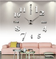 2016 New Oversized Mirror Creative Wall Clock Diy Wall Clock Creative Home Decoration Fashion 3d Wall