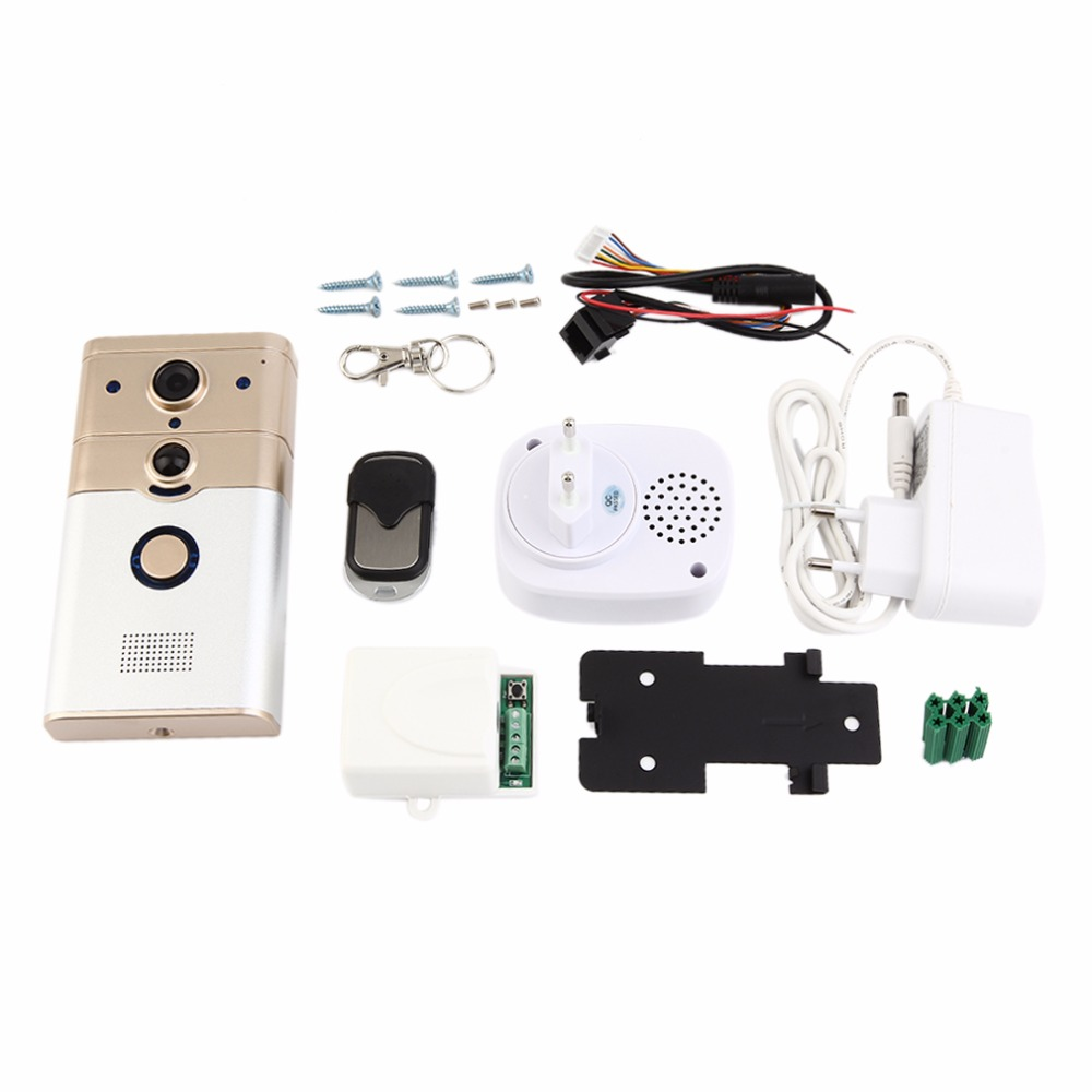 DD2 Professional Wireless Smart Doorbell 1 Mega Pixels CMOS Sensor 720P HD PIR Alarm Home Security Doorbell System Device