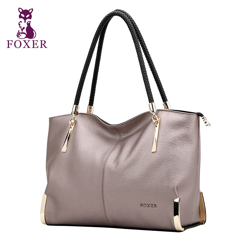 2017 New FOXER brand women bag genuine leather fashion high quality women handbags shoulder cowhide commuter big bag foxer 2017 new brand women leather bag fashion casual wild women leather handbags shoulder bag quality cowhide small bag