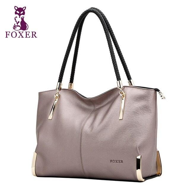 2017 New FOXER brand women bag genuine leather fashion high quality women handbags shoulder cowhide commuter big bag