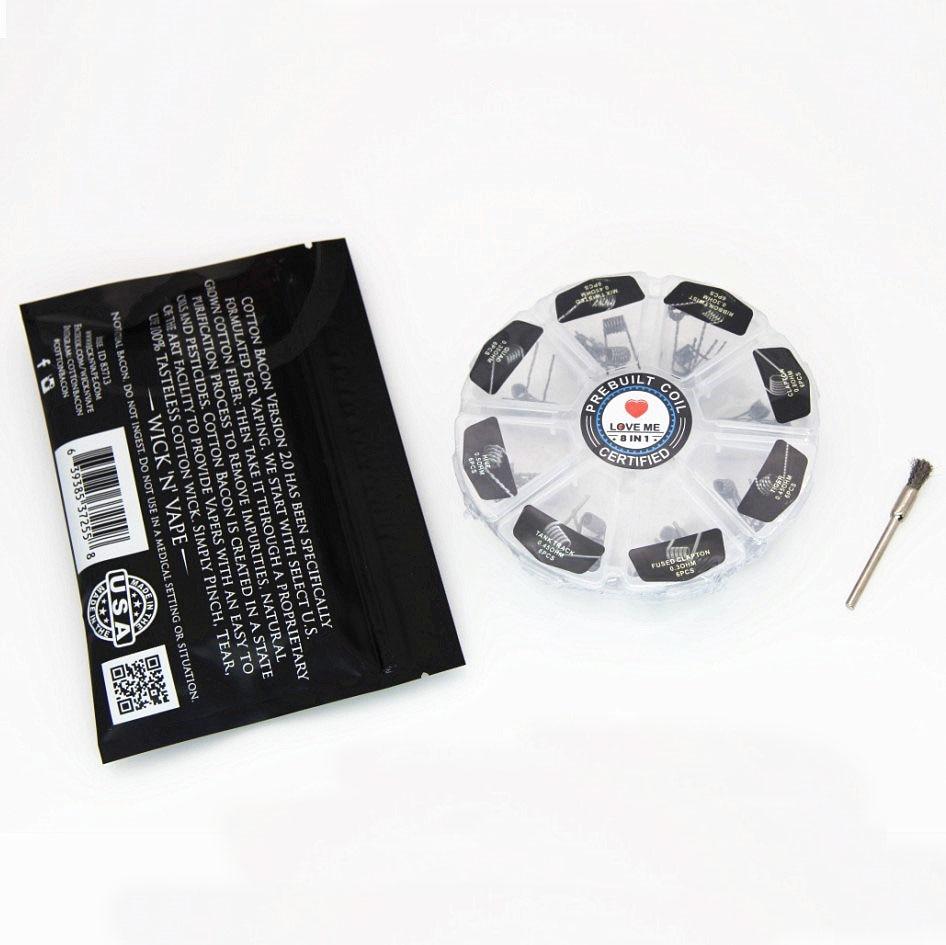 Love Me 8 In 1 Prebuilt Coil Box Kit Sarang Tank track Quad Tiger - Rokok elektronik - Foto 2
