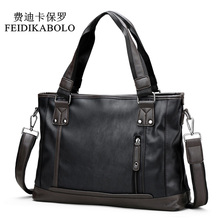 FEIDIKABOLO Famous Brand Man Bag Male Handbags Leather Briefcases Shoulder Bags