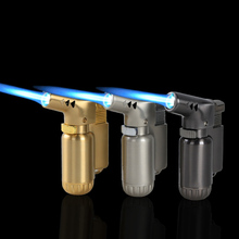 Straight and windproof welding flamethrower lighter metal inflatable outdoor barbecue cigar special