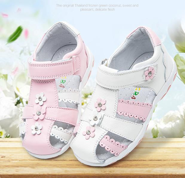 Summer 1 pair genuine leather Girl Children Sandals Orthopedic shoes, super quality Kids princess shoes good quality 1pair orthopedic shoes girl genuine leather shoes inner 15 19cm children sneakers sports