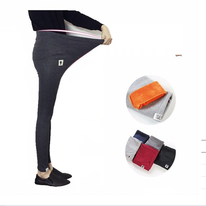 2017 New Winter Warm Maternity Leggings for Pregnant womem Clothing Plus Size Pregnancy Pants High waisted Maternity Clothes