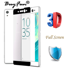 0.26mm Full Cover Screen 3D Curved surface Tempered Glass For Sony Xperia XA Ultra XA Screen Protector Film Glass Guard On XA 1