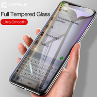 Cafele cobertura completa vidro temperado para iphone 11 pro maz x xs max xr 4d protetor de tela para iphone 11 promax zero prova