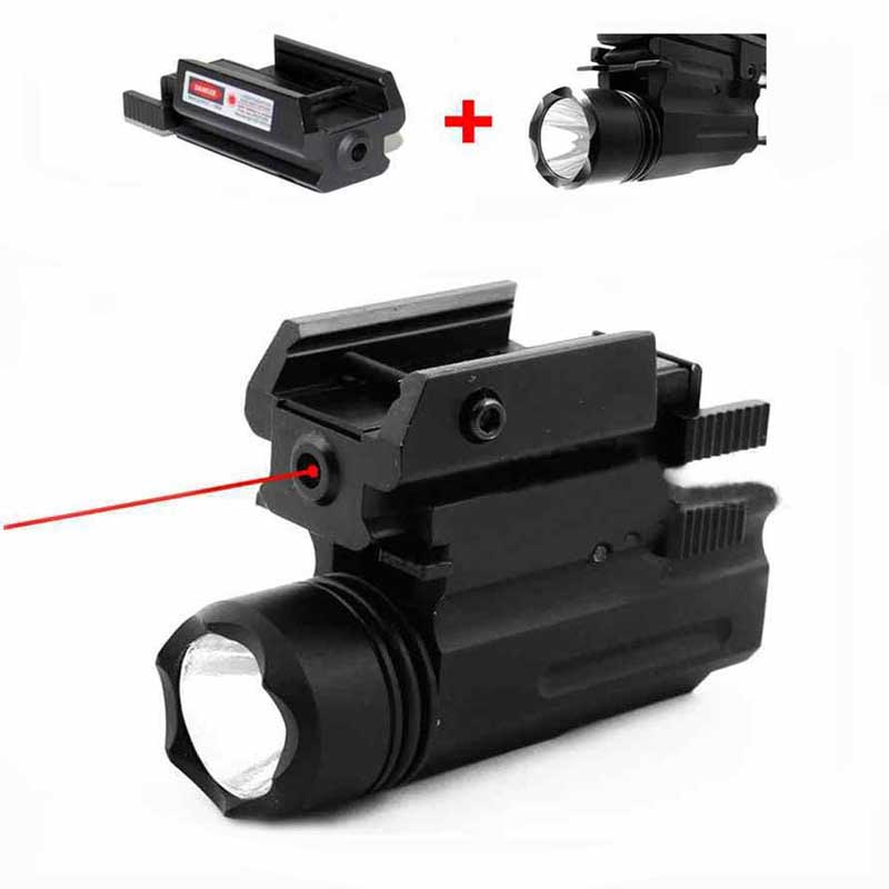 Red Dot Laser Sight + LED Flashlight Tactical Hunting Airsoft Lightweight Pistol Handgun Accessories For Glock 17 19 22 23 31 32