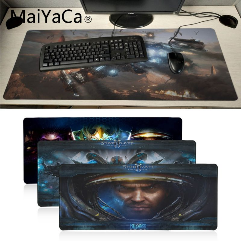 MaiYaCa  Starcraft Laptop Gaming Mice Mousepad Locking Edge Rubber Large Mousepads for DOTA2 Game Playing Lover