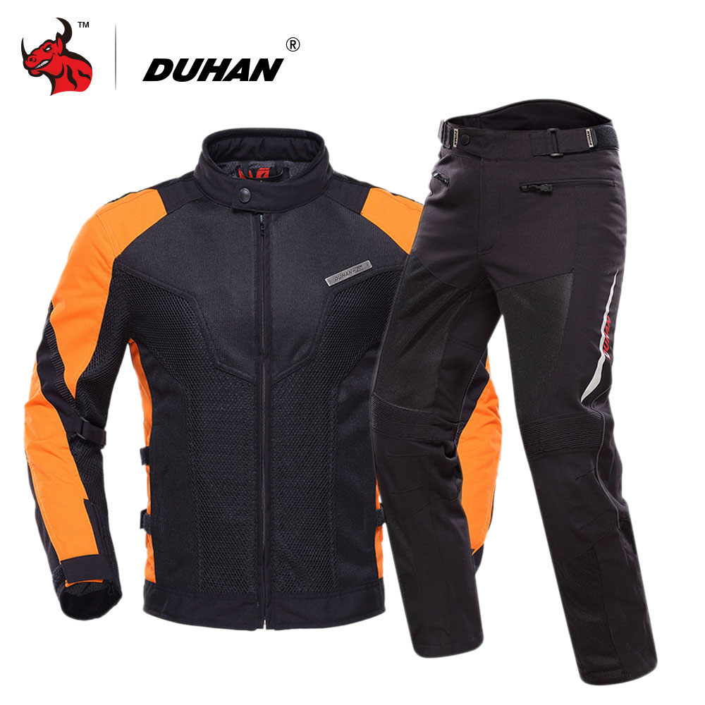 DUHAN Motorcycle Jacket Breathable Motocross Clothing Summer Moto Jacket Motorbike Jaqueta Motoqueiro With Five Protector duhan motorcycle jacket waterproof moto jacket men s motocross clothing motorcycle suit with elbow shoulder back ce protector