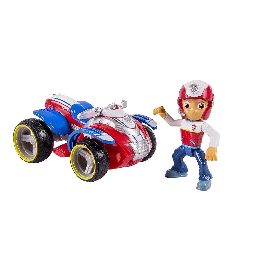 ¡Sin la caja! Genuino pata de patrulla de rescate los corredores Skye Ryder chase marshall rocky zuma escombros Everest vehículo Tracker y figura de juguete