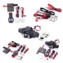 Double Motor Metal Winch Remote Control for 1/10 RC Crawler