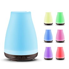 Aroma Essential Oil Diffuser Ultrasonic Air Humidifier with Wood Grain 7 Color Changing LED Lights for Office Home 100ML все цены