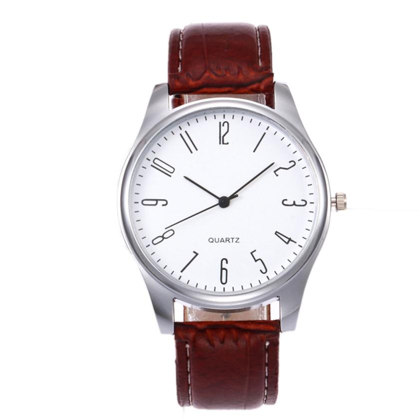 Mens Watches Simple Design Business Leather Band Analog Quartz Wrist Watch Classics Top Brand Luxury Sports Relogio Masculino #D migeer retro design leather band wrist watches mens fashion black dial business style analog quartz watch relogio masculino lh