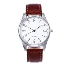 Mens Watches Simple Design Business Leather Band Analog Quar