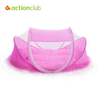 Actionclub Baby Crib Travel Bed Cotton Pillow Pad Folding Baby Crib Portable Crib With Netting Newborn