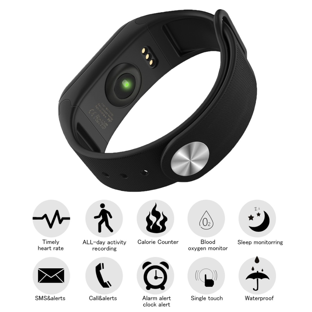 Image 3 - NAIKU Fitness Tracker F1 Sleep Tracker Smart Bracelet Heart Rate Monitor Waterproof Smart Band Activity Tracker for iPhone-in Smart Wristbands from Consumer Electronics