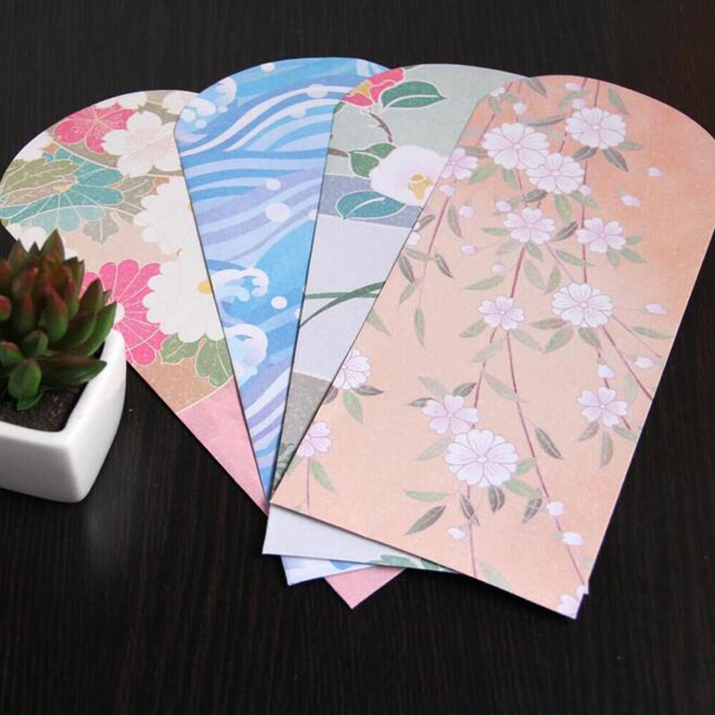Us 10 63 24 Off 50pcs Lot Japanese Style And Painted Envelopes For Card Wedding Invitation Photo Storage Christmas Gift Free Shipping 218 110mm In