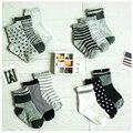 W087 Бесплатная доставка 1-3 лет мужчины детские носки нескользящей резиновой точка синий полосатый звезды стиль высокое качество хлопка детей носки