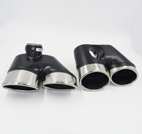 Car styling! ne Pair Stainless Steel Exhaust Tip Auto Car Muffler End Tips Fit For Mercedes Benz W220 S320 S350 S500