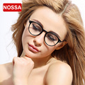 NOSSA Glasses Frame Women Men's Trendy Round Glasses Clear Lens Myopia Spectacle Frame Fashion Eyewear