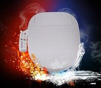 Intelligent Toilet Seat LED Light Extended Electric Washlet Smart Bidet Cover Heat Sits