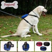 Nylon Front Range Geen-Pull Hond Harnas Reflecterende Outdoor Adventure Huisdier Vest met Handvat Voor Medium Grote Hond Pitbull PS008