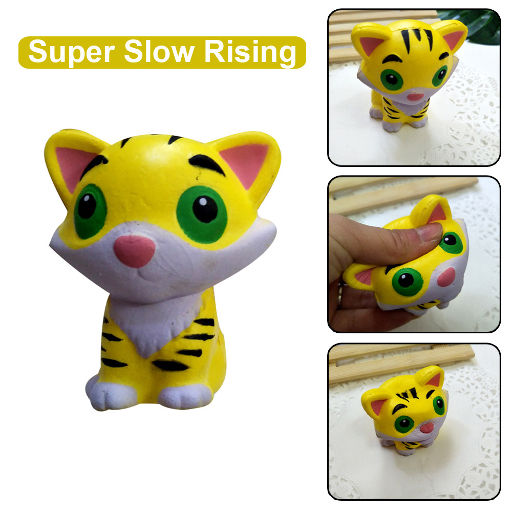 Squishies Adorable Tiger Slow Rising Cream Squeeze Scented Stress Relief Toys  Puzzle plaything