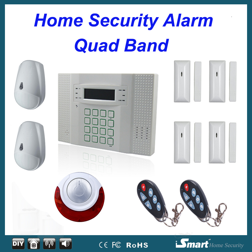 Good quality PSTN GSM Wireless Home Security Alarme Systems with Pet Friendly PIR Sensor and Wireless Flash Strobe Siren quality systems and controls for pharmaceuticals