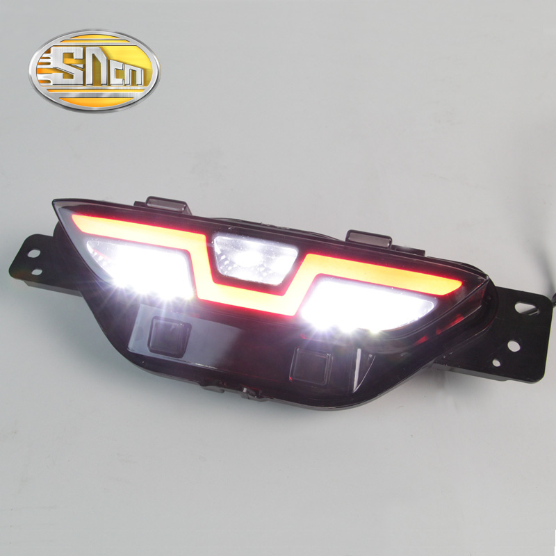 SNCN Multi-function Car Rear Fog Lamp Brake Light LED Backup Lamp Rear Bumper Reflector Light For Toyota C-HR CHR 2016 2017 1 piece rh rear bumper light fog lamp light for toyota landcruiser prado fj90 1997 1999