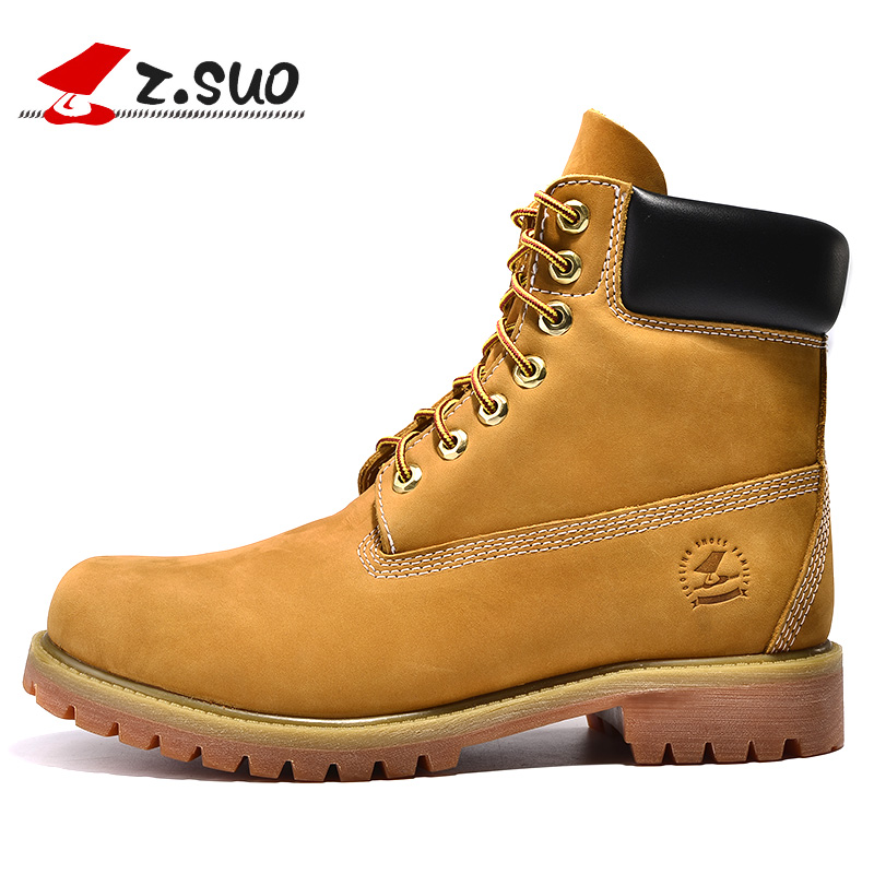 Z.SUO Genuine Leather Men Boots Ankle Boots New England Martin Boots Shoes Men Fashion Shoes Men Autumn And Winter Men Boots  lozoga new men shoes fashion boots ankle 100