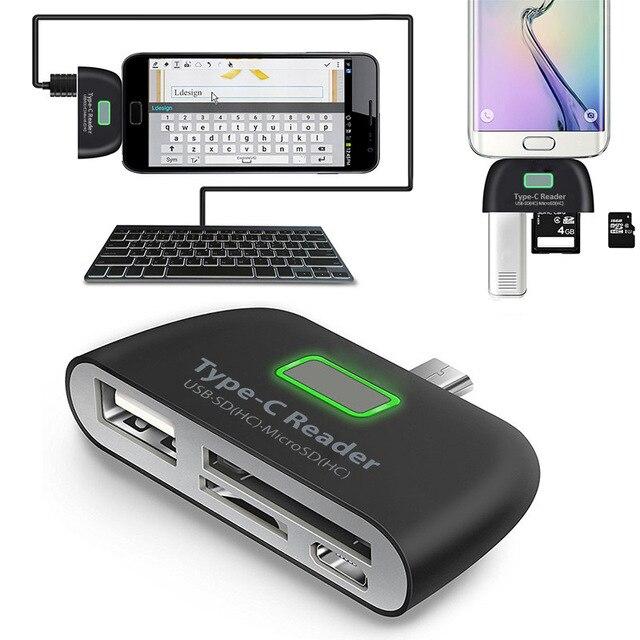 סוג C מתאם OTG ממיר תמיכת SD TF מיקרו SD יציאת מתנה של משלוח טעינת כבל USB C זכר עבור סוג C חכם טלפונים טבליות