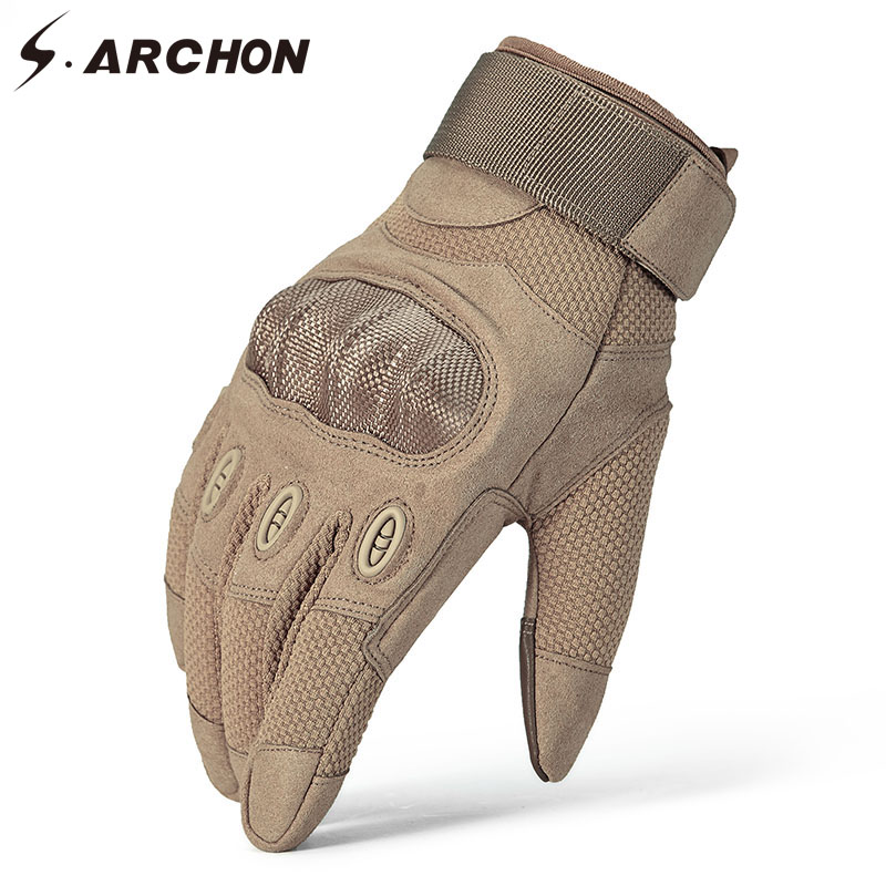 S.ARCHON Military SWAT Tactical Gloves Men Knuckle Warm Shooting Fight Gloves Full Special Force Finger Airsoft Army Gloves