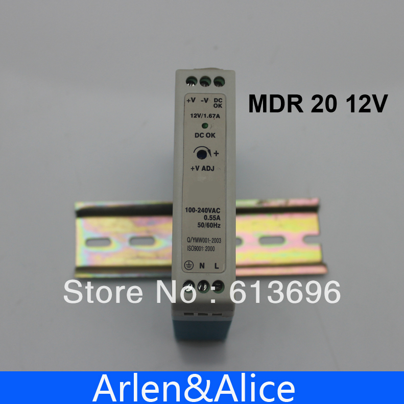 20W 12V MINI  Din Rail Single Output Switching power supply