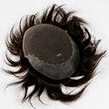 Мужчины Парик Человеческих Волос Французский Шнурок с Кремния Узел Фондовой # 1B Парик Мужчин Бесплатная Доставка Прямые Волосы 100% Человеческих волос