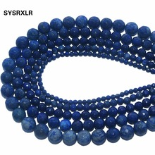 Wholesale Faceted Natural Stone Lapis lazuli Beads For Jewelry Making Charm DIY Bracelet Necklace 4/6/8/10/12 MM Strand 15