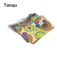 TANQU New Summer Floral Fabric Trim Cotton Fabric Thin Decoration For Ochic Obag Handbag O Bag