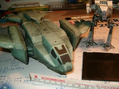 3D Paper Model Game Halo Pelican soldier D-77 DIY Handmade Toy Солдат