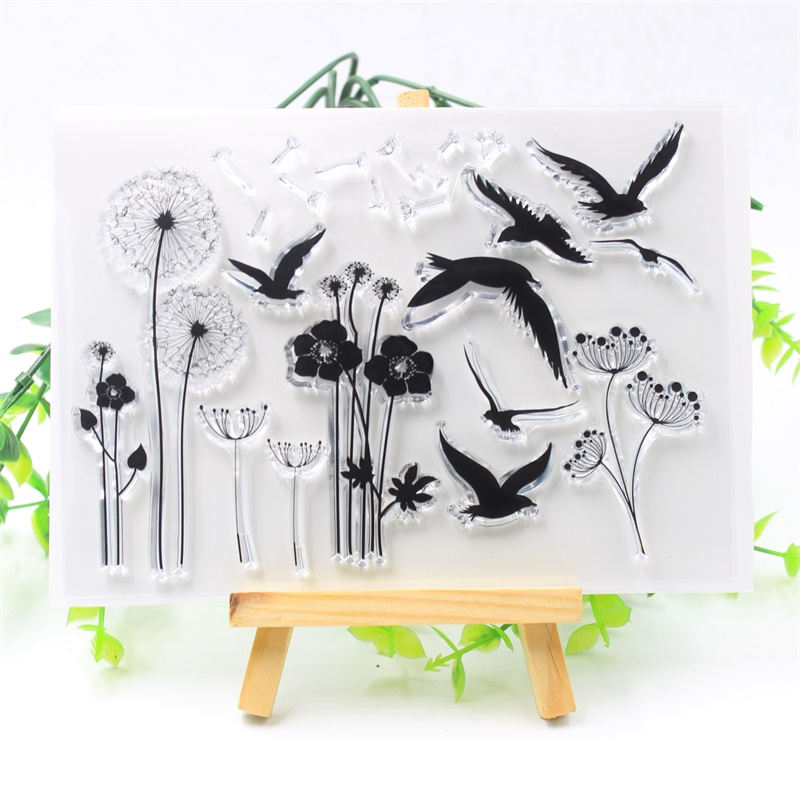 YPP CRAFT Dandelion And Bird Transparent Clear Silicone Stamps for DIY Scrapbooking/Card Making/Kids Fun Decoration Supplies ypp craft post card transparent clear