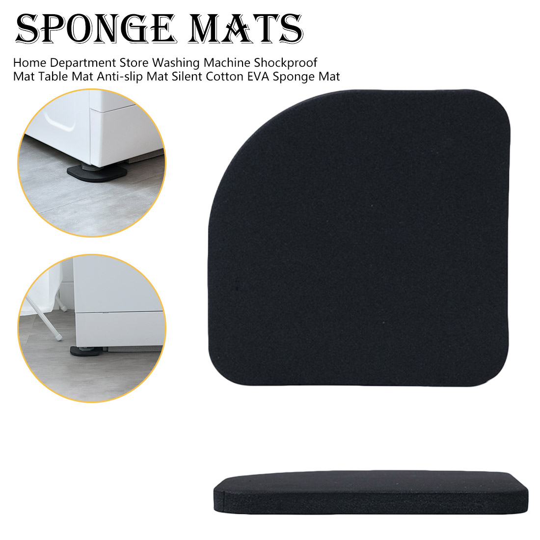 4pcs Multifunctional Anti Vibration Mat For Washing Machine  Non Slip Anti-Vibration Pad