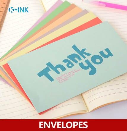 5pcs / pack , Colorful English Words Big Envelopes