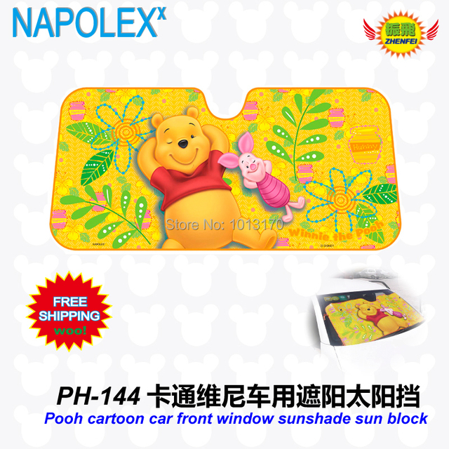 accessories Cartoon Pooh pear   front window sunshade Foils Windshield Visor Cover UV Protect Car window Film sun shade  PH-144