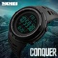 SKMEI marca hombres relojes deportivos moda Cronos cuenta regresiva hombres impermeable LED reloj Digital hombre reloj militar reloj Masculino