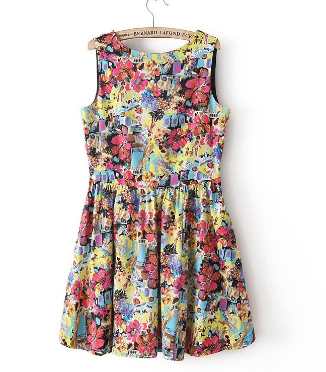 a78ef4ad024d8 US $19.8 |New Arrival Free Shipping Women High Fashion Beautiful One Piece  Vintage Floral Print Party Dress 2013 Autumn Winter-in Dresses from Women's  ...