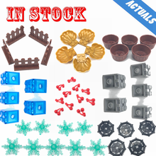 Legoing City Flower Pot Shell Pearl Snowflake Building Block MOC Part Accessories Classic Model Set Toy For Kid Legoings Friends(China)