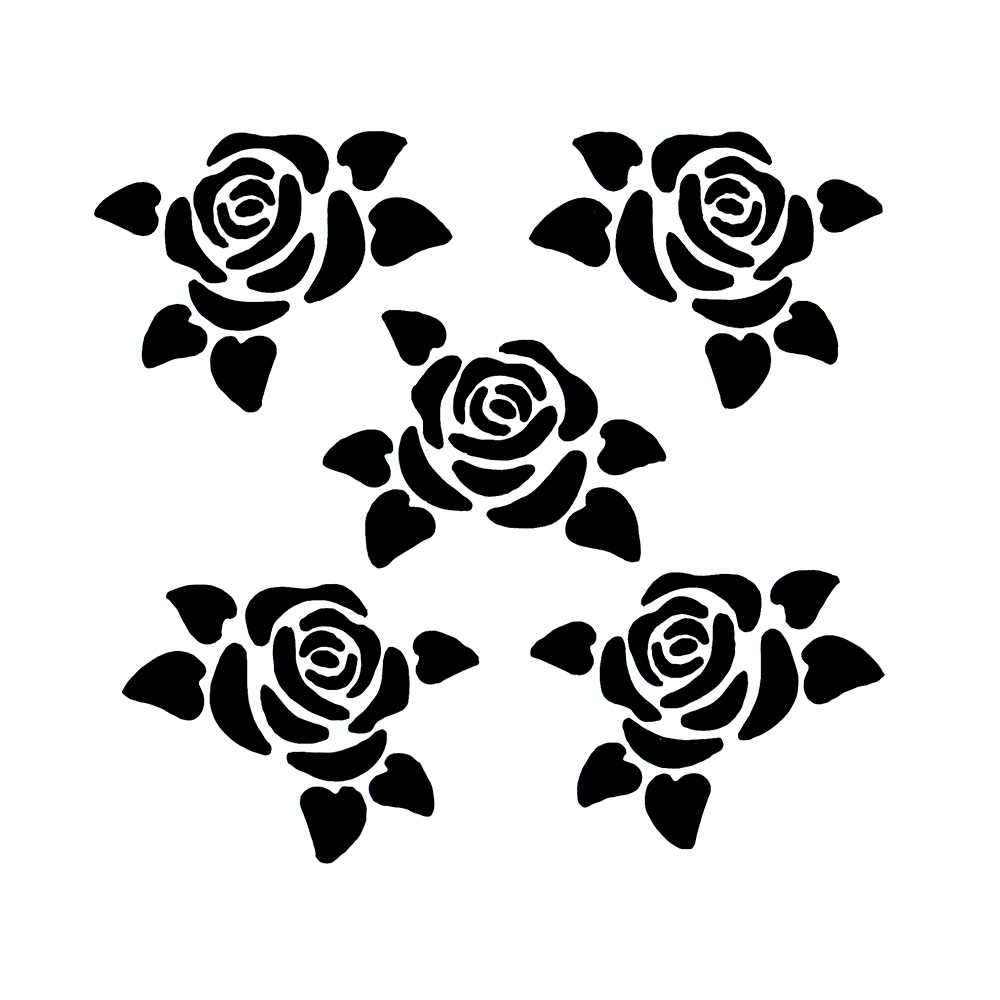 1PC Small Rose Flower Shaped Reusable Stencil Airbrush ...